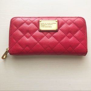 Marc by Marc Jacobs Red Quilted Wallet